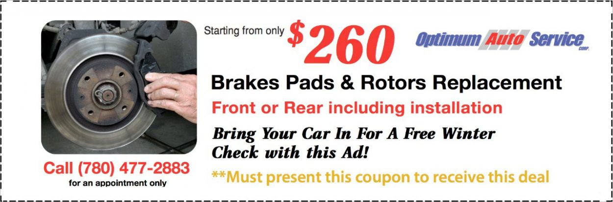 Brakes Pads & Rotors Replacement